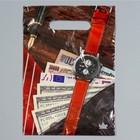 """Пакет """"Мужской NEW"""", полиэтиленовый с вырубной ручкой, 20 х 30 см, 30 мкм"""