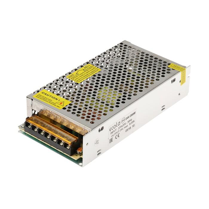 Блок питания для светодиодной ленты Ecola, 200 Вт, 220-24 В, IP20