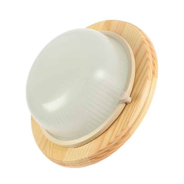 Светильник накладной Ecola, GX53, IP65, 220В, 220х84 мм, цвет клен, матовый