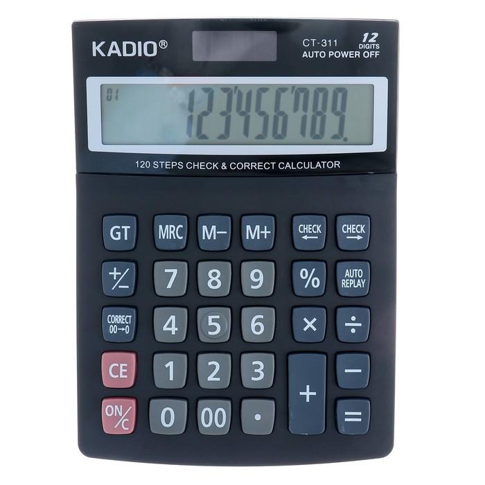 Калькулятор настольный, 12-разрядный, 311, двойное питание - фото 687886920