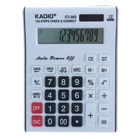 Калькулятор настольный, 12-разрядный, 303, двойное питание