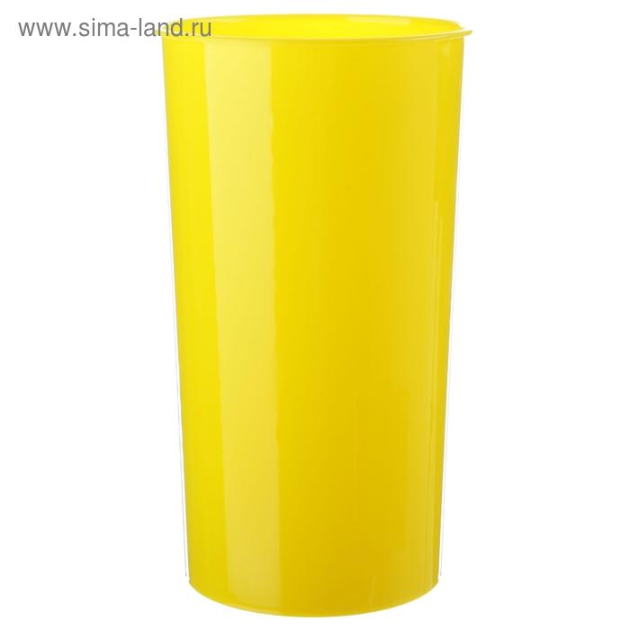 Ваза для цветов d=14,6 см, цвет желтый