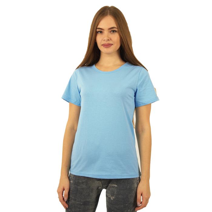 Футболка женская БК-137 цвет голубой, р-р 44