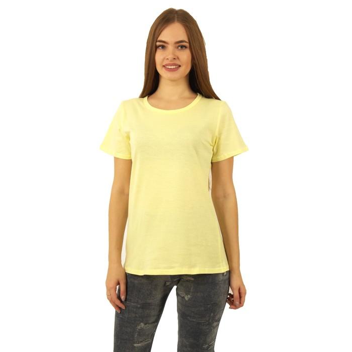Футболка женская БК-137 цвет лимон, р-р 44