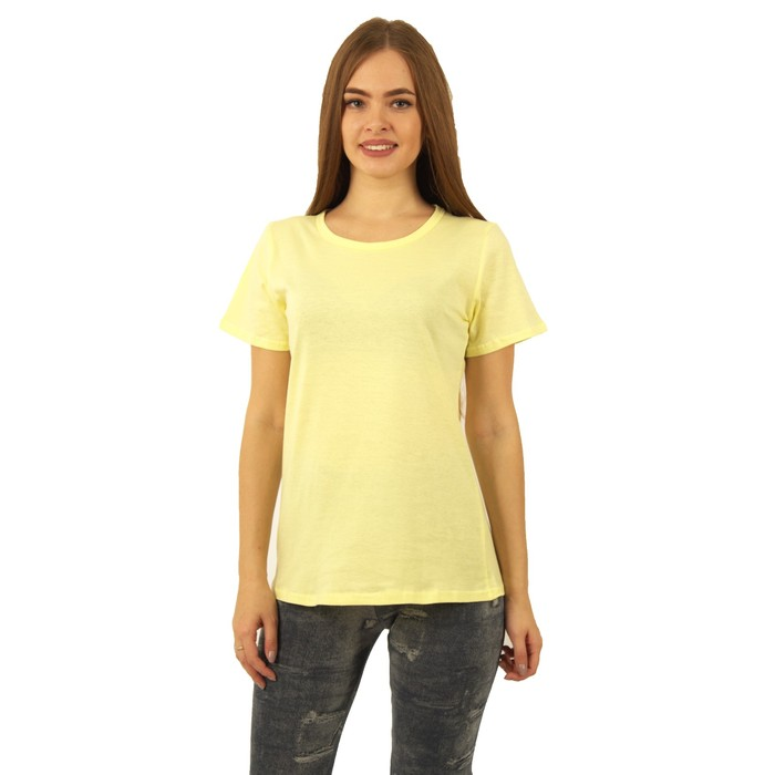 Футболка женская БК-137 цвет лимон, р-р 50