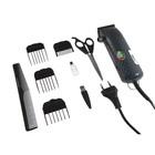 Машинка для стрижки волос Aresa AR-1811, 7 Вт, сеть, 4 насадки, синяя