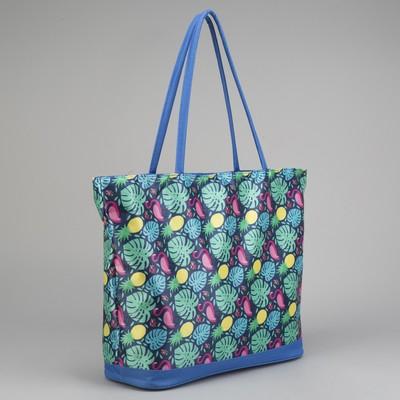Bag, Department, zip, no padding, color blue