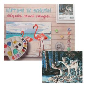 Картина по номерам «Волки» 40х50 см