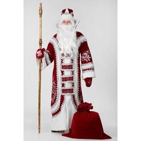 Карнавальный костюм «Дед Мороз Купеческий», р. 54-56, цвет красный