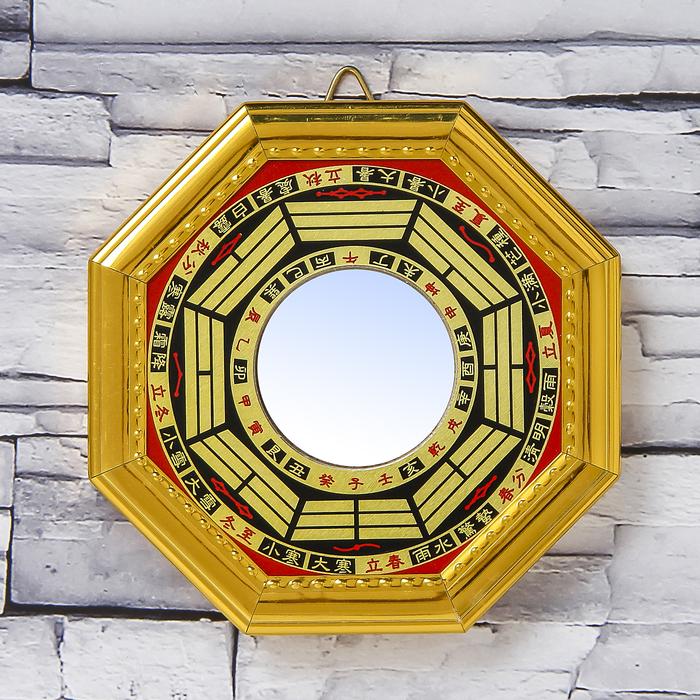 "Сувенир пластик ""Зеркало Ба-гуа"" 1,4х12,4х12,4 см"