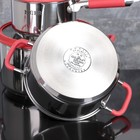 Набор посуды MCFR, 4 предмета: ковш 1,8 л; кастрюля 2,8 л, сковорда d=25 см, кастрюля 5,6 л - фото 926090