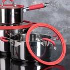 Набор посуды MCFR, 4 предмета: ковш 1,8 л; кастрюля 2,8 л, сковорда d=25 см, кастрюля 5,6 л - фото 926084