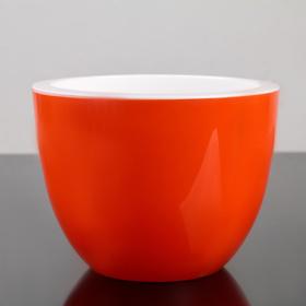 """Горшок с вкладышем 3,5 л, d=20, h=15, """"Орион"""", цвет оранжевый"""