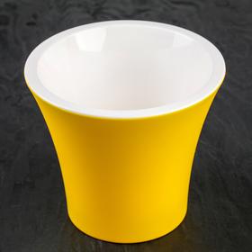 Кашпо со вставкой «Сити», 3,3 л, цвет жёлто-белый