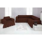 Чехол д/мягкой мебели Угловой и кресло 2-х пр.(3+1) VENERA , цвет 01, трикотаж п/э100%