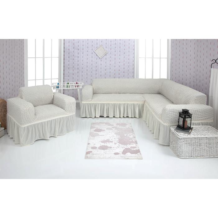 Чехол д/мягкой мебели Угловой и кресло 2-х пр.(3+1) VENERA , цвет 14, трикотаж п/э100%