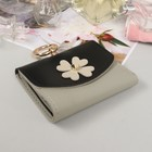 Wallet for women, the division on the flap for cards, color black/grey