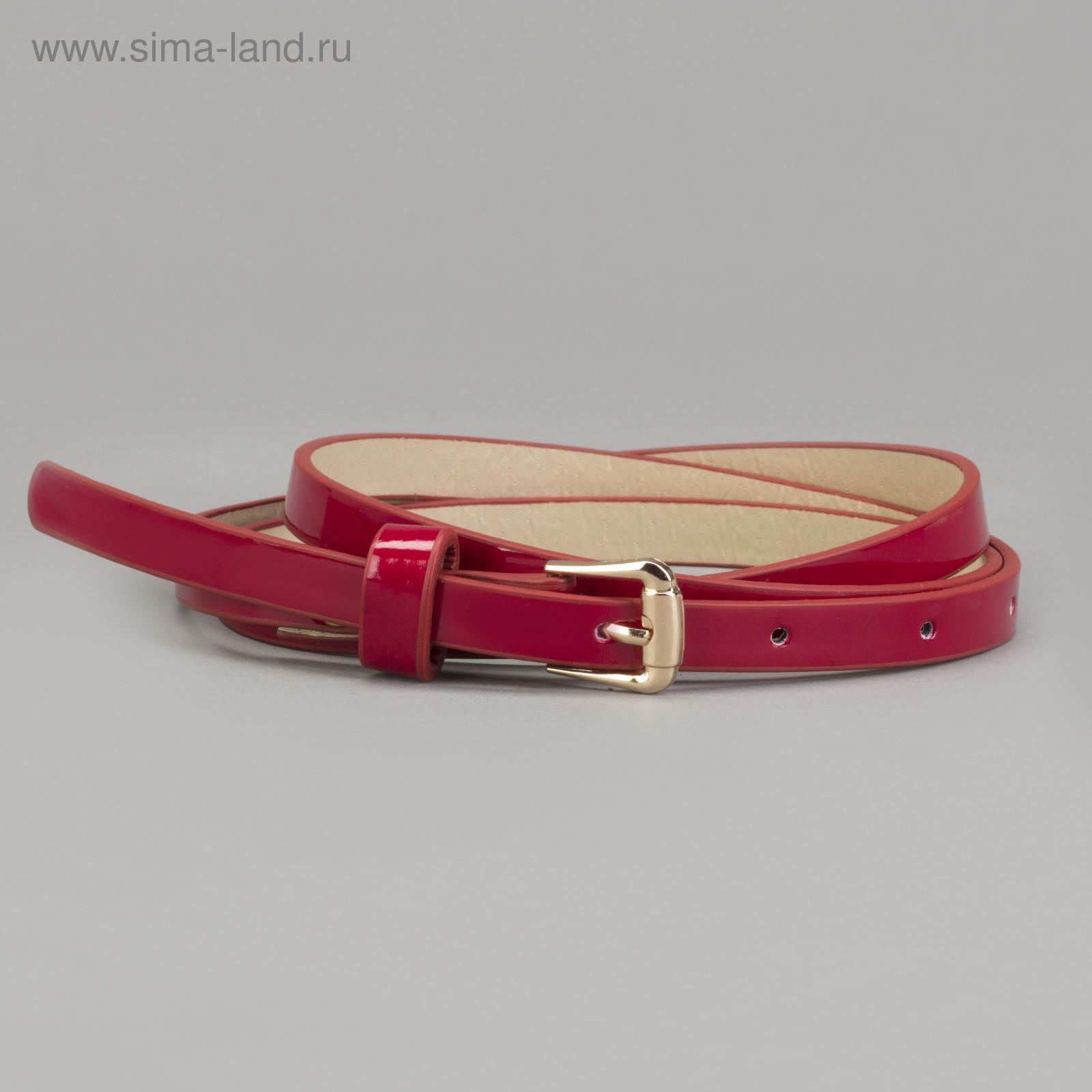2d83ce96e10f Ремень женский, пряжка золото, ширина - 1 см, цвет бордовый (3722561 ...