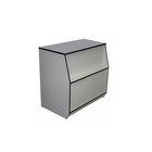 Прилавок рабочий малый 600х550х900, ДСП, цвет белый с чёрной кромкой