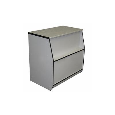 Прилавок рабочий малый 600х550х900, постформинг, цвет белый с чёрной кромкой