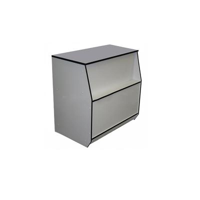 Прилавок рабочий, ДСП 900х550х900, цвет белый с чёрной кромкой