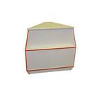 Прилавок угловой наружный, постформинг 550, цвет белый с красной кромкой