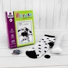 """Набор для создания игрушки из носков """"Далматинец"""" + игла, инструкция"""
