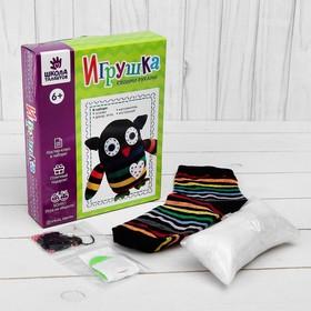 Набор для создания игрушки из носков «Сова» + игла, инструкция