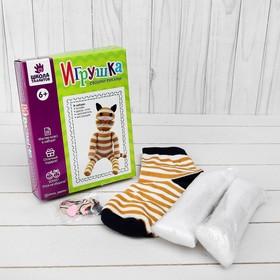 Набор для создания игрушки из носков «Кошечка» + игла, инструкция