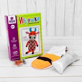 Набор для создания игрушки из носков «Корова» + игла, инструкция
