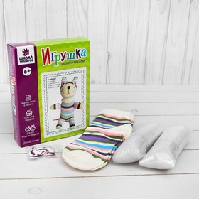 Набор для создания игрушки из носков «Котёнок» + игла, инструкция