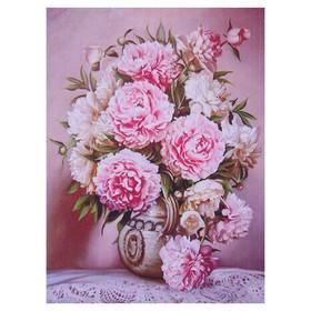Алмазная мозаика «Розовая нежность» 21 × 28 см, 29 цветов