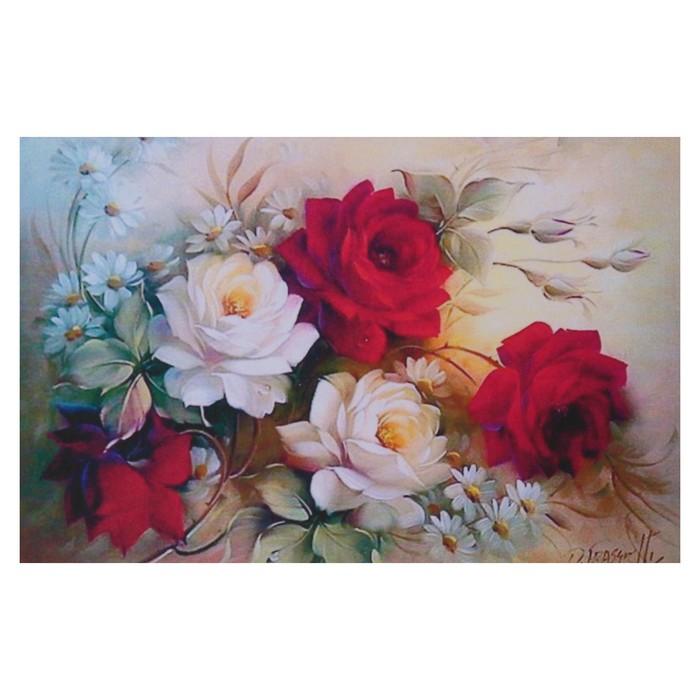 """Алмазная мозаика """"Винтажный букет"""" 29*19см, 39 цветов"""