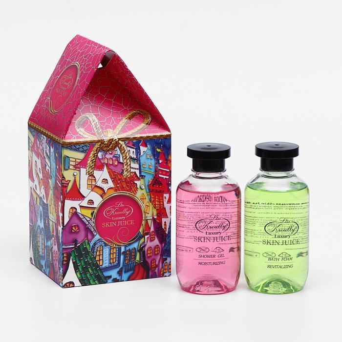 Подарочный набор Skin Juice «Домик»: гель для душа, 270 мл + пена для ванн, 270 мл