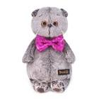 Мягкая игрушка «Басик» в галстуке-бабочке в пайетках, 19 см