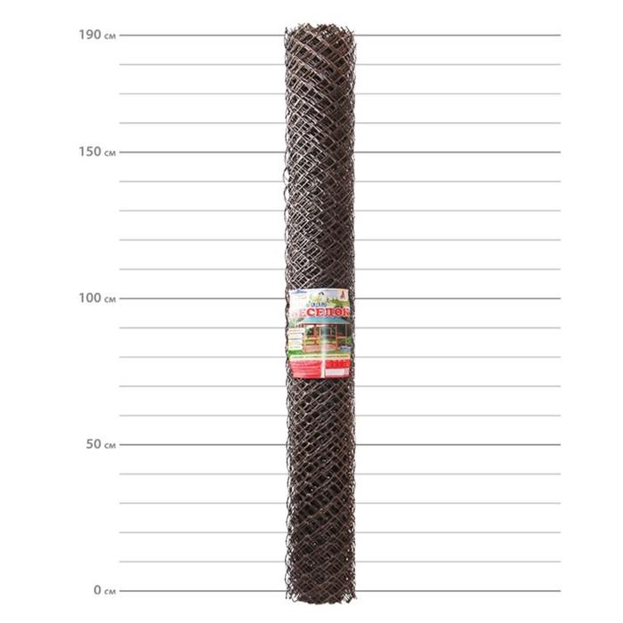 Сетка садовая, 1,9 × 10 м, ячейка 5.8 × 5.8 см, коричневая
