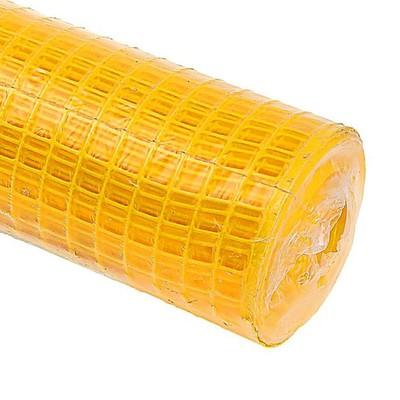 Сетка садовая, 0.5 × 8 м, ячейка 2.4 × 2.4 см, жёлтая