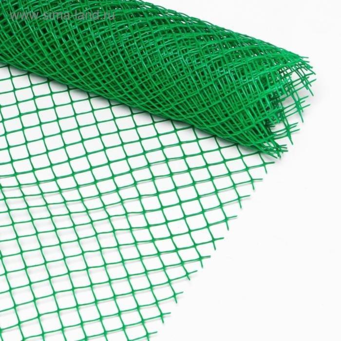 Сетка садовая, 1,6 × 30 м, ячейка 18 × 18 мм, зелёная