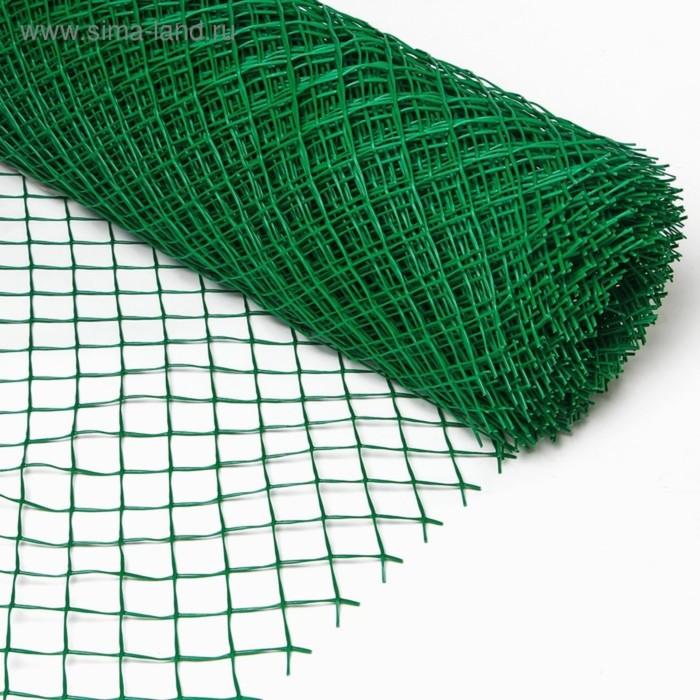 Сетка садовая, 1.5 × 20 м, ячейка 1.5 × 1,5 см, зелёная, Эконом