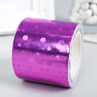 """Клейкая лента пластик """"Голографический рисунок - фиолет"""" ширина 4,8 см намотка 5 метров"""