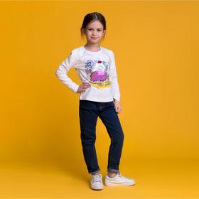 Джемпер для девочки MINAKU «Мороженое», рост 116-122 см, цвет белый