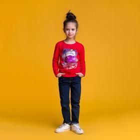 Джемпер для девочки MINAKU «Мороженое», рост 110-116 см, цвет красный