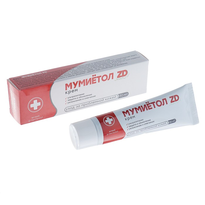Крем для тела «Мумиётол ZD» с Д-пантенолом, 50 мл.