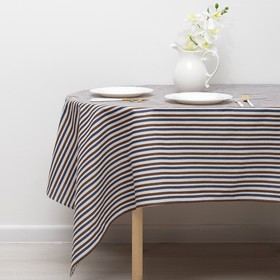 Tablecloth Share 145x145cm, the Strip of sin-black, 100% PE, the Mat 200 g / m