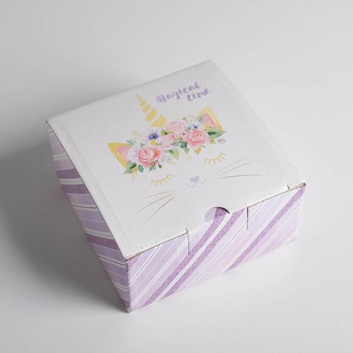 Анонс-изображение товара коробка‒пенал magical time, 15 × 15 × 7 см 3907247