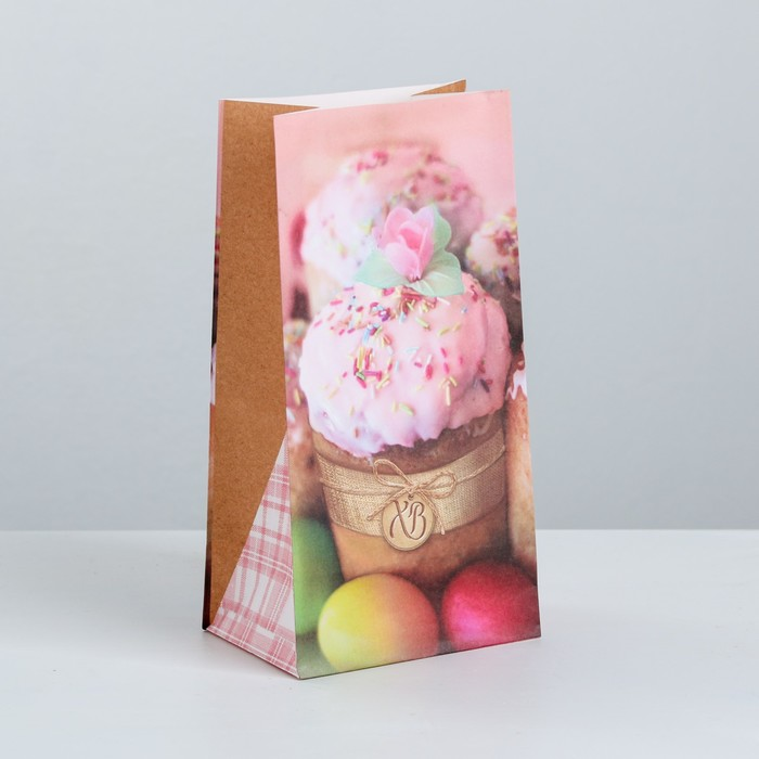 Пакет подарочный без ручек «С Праздником!», 10 × 19.5 × 7 см - фото 308984427