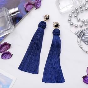 "Earrings assorted ""Brushes"" Empire, color blue, L brush 10.5 cm"