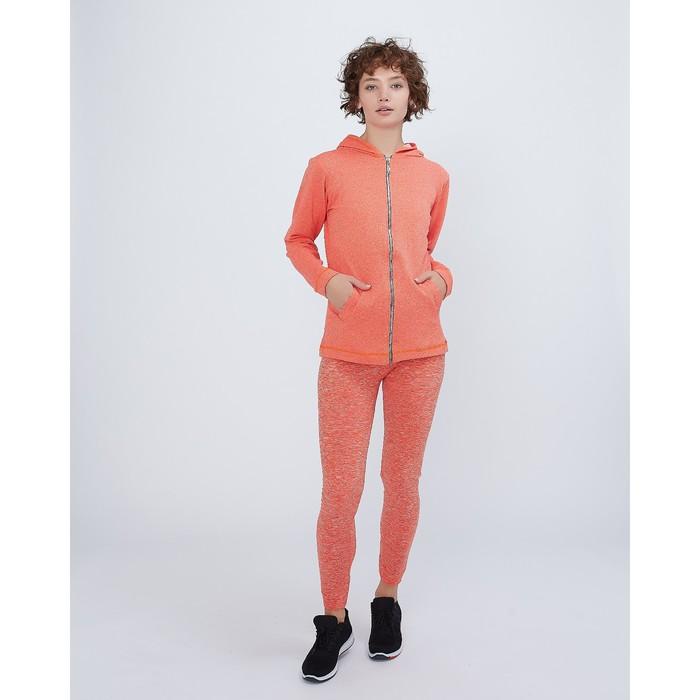 женский  костюм толстовка+легинсы, р. 42-44, цв. оранжевый, 88% полиамид, 12% эластан