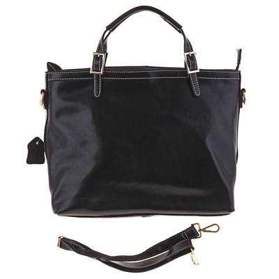 """Сумка женская """"Мэри"""", 2 отдела, 1 наружный карман, длинный ремень, чёрная"""