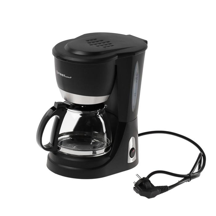 Кофеварка FIRST FA-5464-3, капельная, 650 Вт, 0.75 л, чёрная